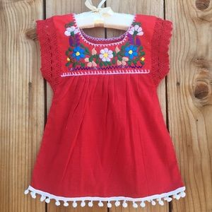5837f548bac3e Mexican baby dress embroidered size 9 Months